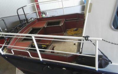Verbouwing achterdek motorboot