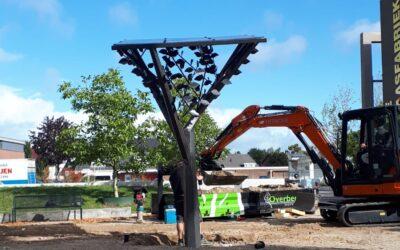 Solartree van cortenstaal